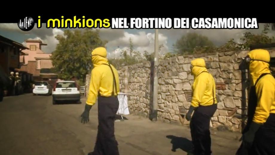 i minkions Nel Fortino Dei Casamonica